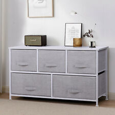 Fabric Cabinet Storage Unit Chest of Drawers Metal Frame Organiser Bedside Table