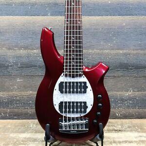Ernie Ball Music Man Bongo 6 Rolls Burgundy 6-String El. Bass w/Case #F21505