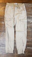 Kids Old Navy Khaki Cargo Jogger Pants Elastic Waistband Cuffs Sz Large 10 - 12