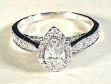 Diamond Engagement Ring 1 ct tw Pear/Round 14K White Gold,SZ 7,PRICE AT KAY 2799