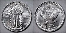 """""""1922"""" 25C Standing Liberty Silver Quarter D.CARR Fantasy Over-Strike GREAT GIFT"""