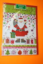 CARTE POSTALE JOYEUX NOEL + enveloppe rouge 11,5 x 16,5 cm  Pere noël / relief