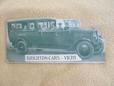 Brighton-Cars Vichy France Tourisme en Autocar De Dion-Bouton Autobus circa 1920