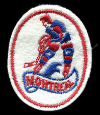 """1970'S MONTREAL CANADIENS NHL HOCKEY 2.5"""" OVAL PLAYER LOGO TEAM PATCH"""