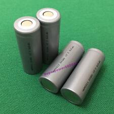 4pcs IFR 18500 3.2V LiFePO4 rechargeable Li phosphate battery 1100mAh flat cap