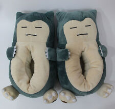 pokemon pikachu Snorlax stuffed plush warm shoes indoor slippers fat belly new