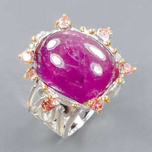 Fine Art Jewelry Ruby Ring Silver 925 Sterling  Size 8 /R172750