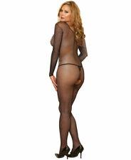 L XL Black Fishnet Bodystocking Sexy Body Bodysuit 14 16 18 Catsuit