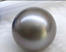 Huge 14mm genuine Tahitian perfect round black gray loose pearl undrilled