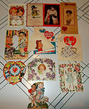 11~Ant/Vtg Valentine'S Day Cards~1 Victorian~2 Die-Cut~1 Pop-Up+