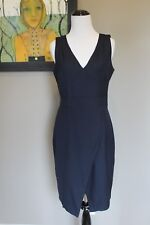 85af1084 NWT J Crew Angie Dress in Royal Navy Super 120s A9662 Sz 4 Small