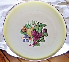 WHITE & YELLOW CAKE PLATE BY ROYAL TUDOR WARE BARKER BROTHERS ENGLAND # 7380