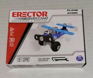 ERECTOR By Meccano Engineering & Robotics - Build a Plane - 30 Pc Tools Included