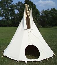 10ft. dia. SUNFORGER tipi - 100% cotton duck: Mildew, Fire, and Water resistant!