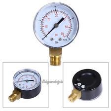 "0-60 PSI Side Mount Pool Spa Filter Water Pressure Gauge 1/4"" Inch Pipe Thread"