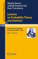 Lectures on Probability Theory and Statistics: Ecole d'Ete de Probabil-ExLibrary