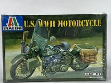 Italeri 7401 US World War II Motorcycle Model Kit 1/9
