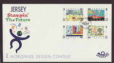 Jersey 2000 FDC - Stampin´ the Future - Design Contest - with set of 4 stamps