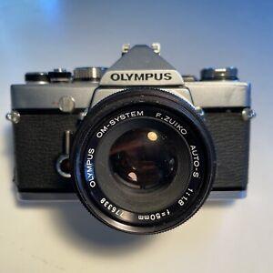 Olympus OM-1 w/ f/1.4 G. Zuiko lens film tested, working Clean!