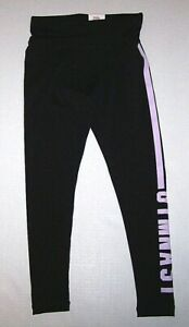 Justice Gymnast Gymnastics Logo Leggings Pants Tight Fit Black   New Girl