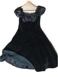 Velvet Dress by Charlotte Halton, Party  80s Vintage Size Uk 10
