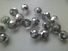 8x6mm 20x Glas-Facett-Perlen MiPerla 41868 Glasschliff ash-violet