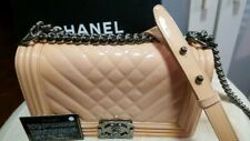 CHANEL BOY BAG MEDIUM PEACH/BABY PINK PATENT LEATHER 100% authentic