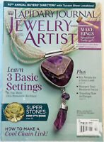 Lapidary Journal Jewelry Artist Magazine Back Issue JAN/FEB 2015, combined ship