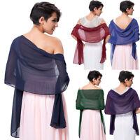 Women Bridal Scarves Shawl Wrap Evening Scarf Fashion Shrug Soft Stole Chiffon