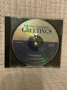 Broderbund Print Shop Signature Greetings CD 1997