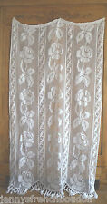 Vintage French pure cotton filet curtain