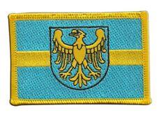 Polen Woiwodschaft Schlesien Aufnäher Flaggen Fahnen Patch Aufbügler 8x6cm