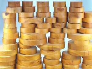 "Wild Cherry wood turning bowl blanks. 50mm (2"") thick. Woodturning, carving."