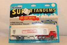 1970's Majorette Bernard Semi Container Truck, Nice Original in Blisterpack