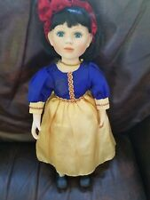 "Geppeddo doll collectors series 17""  Porcelain  and cloth Snow White"
