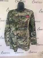 Mossy Oak Mountain Country Camo Ladies Tee Shirt Med C-7