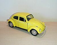 Volkswagen Yellow Beetle Classic Die Cast Model Car 1:38 Scale NEW