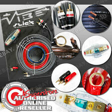 Vibe Slick 8 Awg Calibre 1500w 1500 Watts sistema 12v COCHE AMP amplificador Kit de cableado