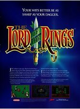 1994 Super Nintendo SNES LORD OF THE RINGS  video game magazine print ad page