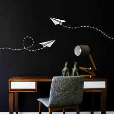 CraftStar Paper Plane Wall Stencil - Reusable Laser Cut Mylar Aeroplane Stencil