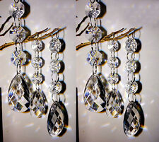 30PCS Teardrop Acrylic Crystal Beads Hanging Wedding Party Home Decor