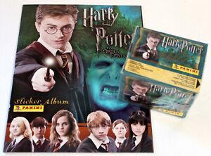 Panini Sticker Harry Potter Order Of Phoenix 2007 Box Display 50 Bags + Album