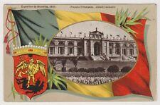 Bruxelles Exhibition 1910 postcard - Facade Principale. Avant L'Incendie - P/U