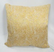 "Golden Yellow Shimmer Pattern Decorative Throw Pillow Removable Cover, 20""x20"""