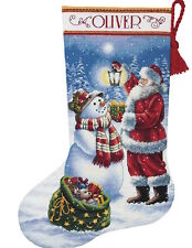 Dimensions 8952 Gold Collection Holiday Glow Stocking Counted Cross Stitch Kit