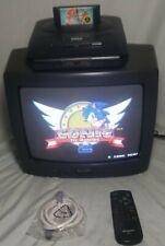 """SHARP 13"""" CRT Color Television Model 13F-M40 Retro Gaming Monitor w/ Remote TV"""