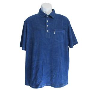 Johnnie-O West Coast Prep S/S Casual Blue Polo Shirt - Men's SZ Medium