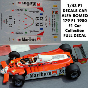 1/43 F1 DECALS CAR ALFA ROMEO 179 F1 1980 F1 Car Collection FULL DECAL