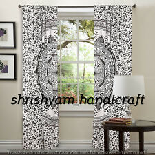 Window Mandala Curtain Balcony Drape Sheer Scarfs Tulle Door Valance Modern Room