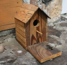 """Collectible Hand Made One of a Kind Rustic 8-1/2"""" Tall Wooden Birdhouse"""